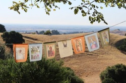 Silent Meditation Retreat Center in Northern California, accessible from San Francisco, Sacramento and Los Angeles Mary prayer flags photo