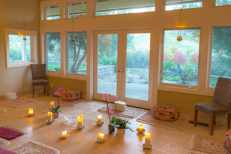 Silent Meditation Retreat Center in Northern California, accessible from San Francisco, Sacramento and Los Angeles candle photo